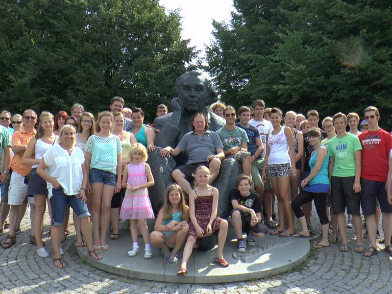 Gruppenfoto an der Sängerwiese